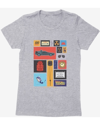 Back To The Future Collage Womens T-Shirt