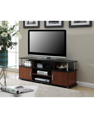 XL Monterey TV Stand in Cherry / Black Finish - Convenience Concepts 151440