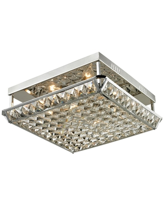 Great Deal On Dale Tiffany Ibiza 5 In Polished Chrome Flush Mount Semi Flush Mount With Crystal And Metal Shade