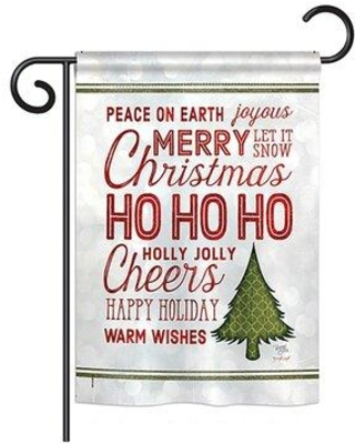 Spectacular Sales For Breeze Decor Christmas Wishes Words Winter Seasonal Impressions 2 Sided 19 X 13 In Garden Flag Material Burlap In Dark Red Wayfair