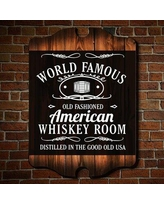 Home Wet Bar World Famous Whiskey Room Wall Art Sign - Wall Décor 5899M