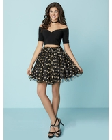 Tiffany Homecoming - 27166 Two-Piece Off-Shoulder Polka Dot Party Dress