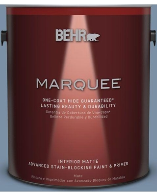 BEHR MARQUEE 1 gal. #S510-4 Jean Jacket Blue One-Coat Hide Matte Interior Paint and Primer in One