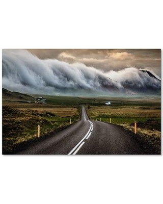 "Trademark Art 'Road' Photographic Print on Wrapped Canvas 1X01724-C Size: 12"" H x 19"" W"