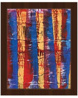 """Click Wall Art 'Sanare Abstract' Framed Painting Print on Canvas ABS0012355FRA0 Size: 26.5"""" H x 22.5"""" W x 1"""" D Frame Color: Espresso"""