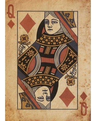 PTM Queen of Diamonds Graphic Art on Canvas 9-3485A