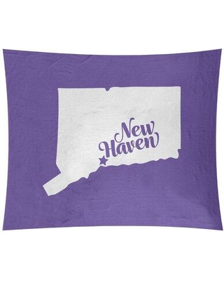 """East Urban Home New Haven Connecticut Wall Tapestry EBIU5233 Size: 26"""" H x 36"""" W Color: Purple"""