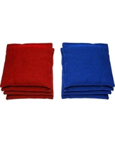 AJJCornhole Toes in the Water Cornhole Set 107-Toes In The Water with bags Color: Red/Royal