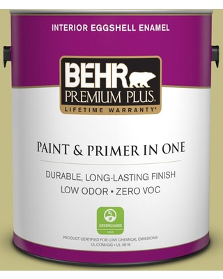 BEHR Premium Plus 1 gal. #T13-19 Gnome Green Eggshell Enamel Low Odor Interior Paint and Primer in One