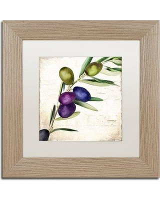 "Trademark Fine Art 'Olive Branch III' by Color Bakery Framed Painting Print ALI4811-T1111MF / ALI4811-T1616MF Size: 11"" H x 11"" W x 0.5"" D"