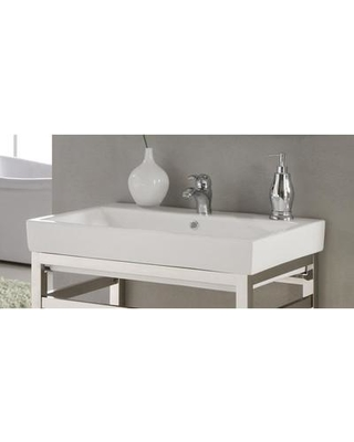 """Empire Industries Milano Ceramic 30"""" Console Bathroom Sink with Overflow M31W1"""