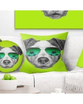 """East Urban Home Animal Jack Russell Pillow FUSI3822 Size: 18"""" x 18"""" Product Type: Throw Pillow"""