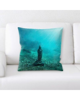 East Urban Home Statue Throw Pillow BF123868