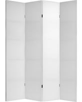 Do It Yourself 4 Panel Room Divider Canvas - Oriental Furniture, White