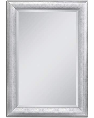 Head West Chrome Pave Weave, 36 inches by 46 inches Wall Mirror