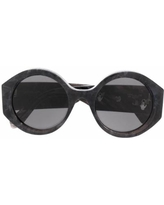 Marbled-effect Round-frame Sunglasses - Gray - Off-White c/o Virgil Abloh Sunglasses