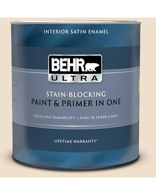BEHR ULTRA 1 qt. #N280-1 Scroll Extra Durable Satin Enamel Interior Paint & Primer