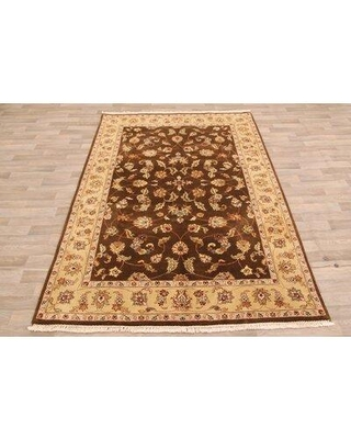 Alcott Hill One-of-a-Kind Jerri Hand-Knotted 6' x 9' Wool Brown Area Rug X111415604