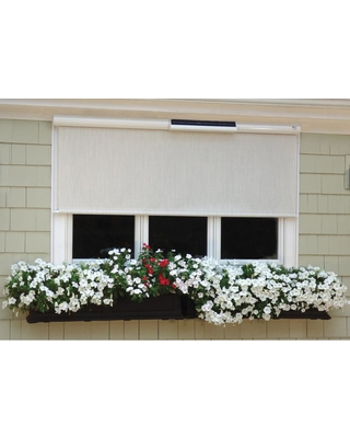 Bali Essentials 36 in. W x 84 in. L Coral White Horizontal Exterior Roll Up Shade