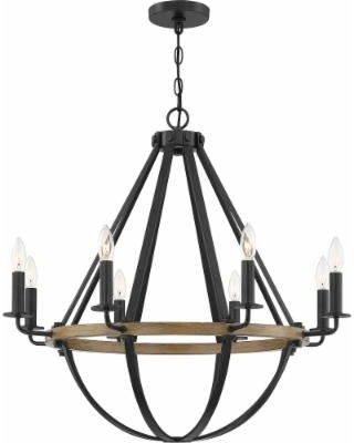 Quoizel Bartlett 30 Inch 8 Light Chandelier - BRL5008EK