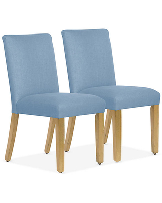 Set of 2 Shannon Side Chairs - French Blue Linen