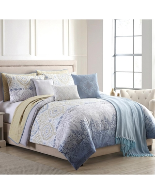 MODERN THREADS Dresden 10-Piece Multi-Color Queen Comforter/Coverlet Set, Multi-colored