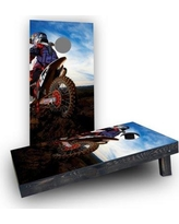 Custom Cornhole Boards Moto Riding CCB489-C Bag Fill: Light Weight Boards with Corn Filled Bags