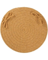 August Grove 100% Wool Chair Pad AGTG3402 Color: Vintage Gold
