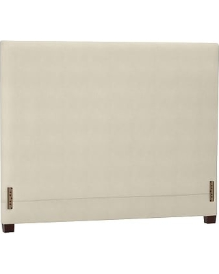Raleigh Upholstered Square Headboard without Nailheads, Queen, Performance Brushed Basketweave Ivory