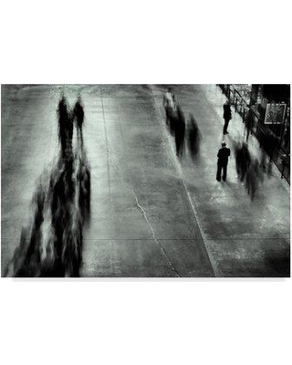 """Trademark Art 'Alone In A Crowd' Photographic Print on Wrapped Canvas 1X05047-CGG Size: 30"""" H x 47"""" W x 2"""" D"""
