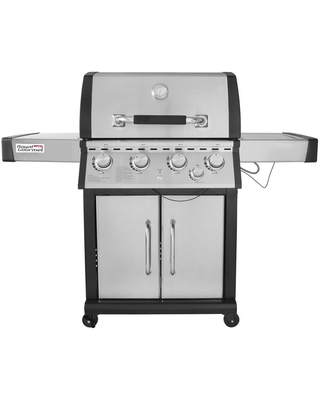 Royal Gourmet Deluxe 4-Burner Patio Propane Gas Grill in Stainless steel with Side Burner, Silver