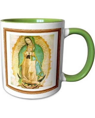 Symple Stuff Sandridge Photo of Painting of Our Lady of Guadalupe Coffee Mug W001258643 Color: Green