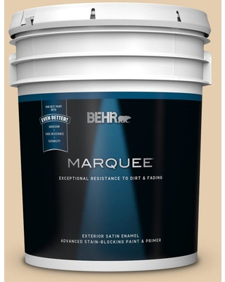 BEHR MARQUEE 5 gal. #MQ3-44 Ancient Scroll Satin Enamel Exterior Paint and Primer in One
