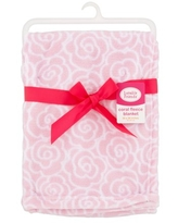 Luvable Friends Baby Boy and Girl Coral Fleece Blanket - Rose