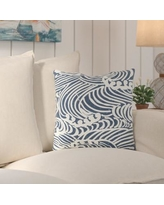 "Highland Dunes Charter Oak Graphic Print Throw Pillow HLDS3368 Size: 20"" H x 20"" W x 4"" D Color: Blue\Neutral"