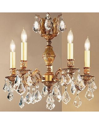 Shop Deals For Faircloth 5 Light Candle Style Chandelier Astoria Grand Finish French Gold Crystal Type Crystalique Plus