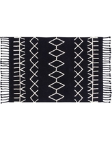 Lorena Canals Bereber Rug, Size One Size - Black