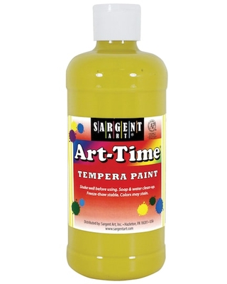 Sargent Art® Art Time® Tempera Paint in Yellow | 16 oz | Michaels®
