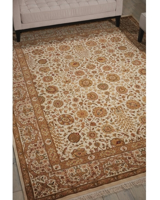 """Nourison Royalty Ivory Area Rug (7'9 x 9'9) - 7'9"""" x 9'9"""""""