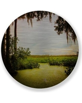 "Two Palms Art Bazaar 'Waterway' by Midnight Bantam Photographic Print on Plaque 1201Aluminum Size: 15"" H x 15"" W x 1"" D"