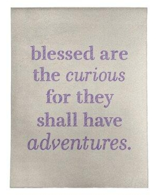 East Urban Home Handwritten Curiosity Inspirational Quote Poly Chenille Rug FCLS5063 Rug Size: Rectangle 9' x 12'