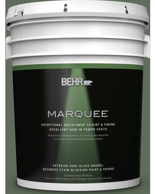 BEHR MARQUEE 5 gal. #N400-6 Terrarium Semi-Gloss Enamel Exterior Paint and Primer in One