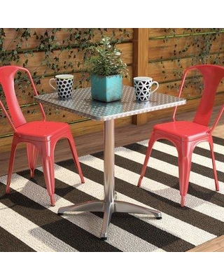 """Zipcode Design™ Lula Steel Dining Table X111721542 Size: 27.5"""" H x 23.5"""" W x 23.5"""" D"""