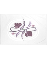 """e by design Poetry in Motion Floral Print Throw Blanket HFN187 Size: 60"""" L x 50"""" W, Color: Bordeaux (Light Gray/Purple)"""
