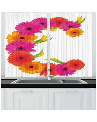Letter C 2 Piece Kitchen Curtain East Urban Home