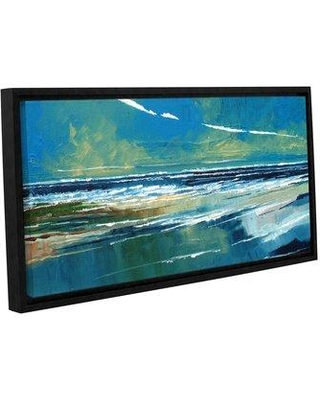 """Breakwater Bay Rectangular Sea View I Painting Print on Wrapped Canvas BRWT2174 Size: 6"""" H 12"""" W"""