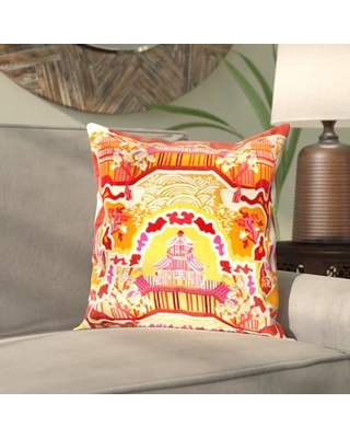 """Bloomsbury Market Alois Silk Throw Pillow Cover BBMT9408 Size: 20"""" H x 20"""" W x 1"""" D Color: Orange\Red"""