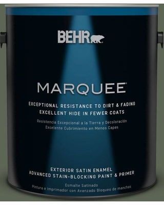 BEHR MARQUEE 1 gal. #BXC-06 Amazon Foliage Satin Enamel Exterior Paint and Primer in One