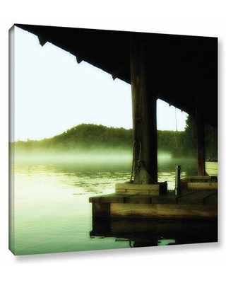 """ArtWall Zen by Revolver Ocelot Framed Photographic Print on Wrapped Canvas, Canvas & Fabric in Brown/Green/Black, Size 14"""" H x 14"""" W 