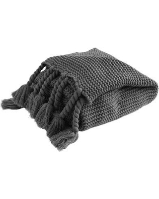 Gracie Oaks Rupe Rope Throw W001305478 Color: Charcoal